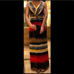 Maxi dress with bead detail